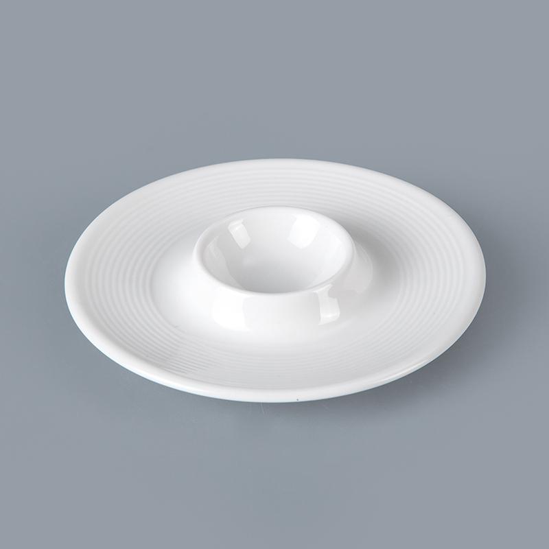 dinnerware high quality egg tray porcelain egg holder hotel restaurant egg plate stand