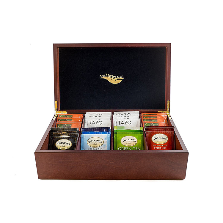 wholesale delicate vintage style quality modern small wooden tea box