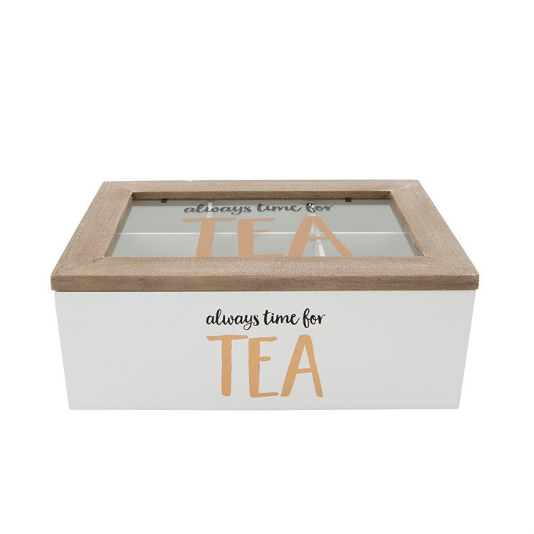 6 Compartment bamboo tea box with competitive price