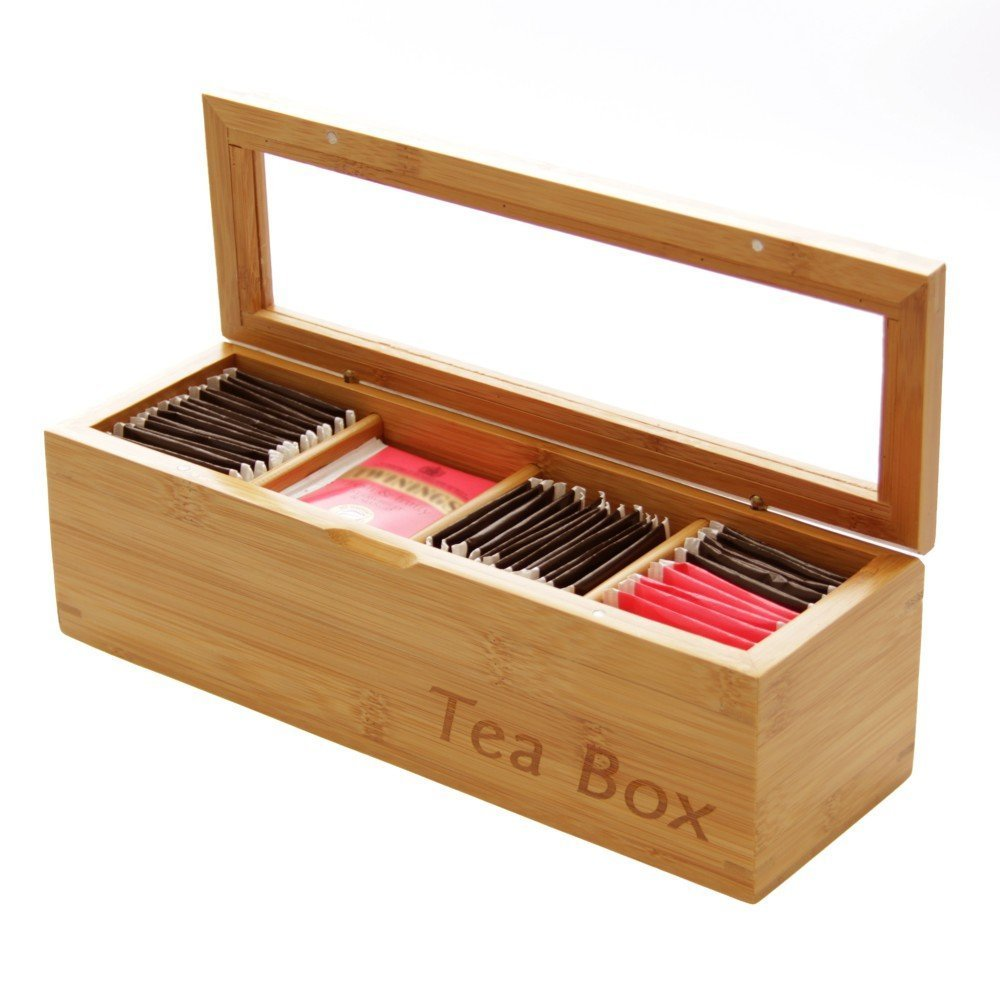 Small tea storage wooden Japanese tea box