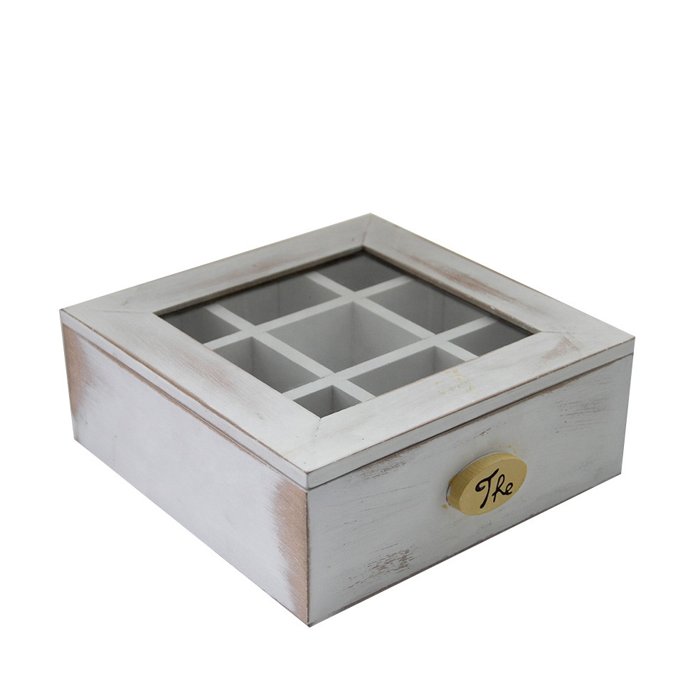Hot sale Customized glass lid wooden tea box wooden tea boxes wholesale