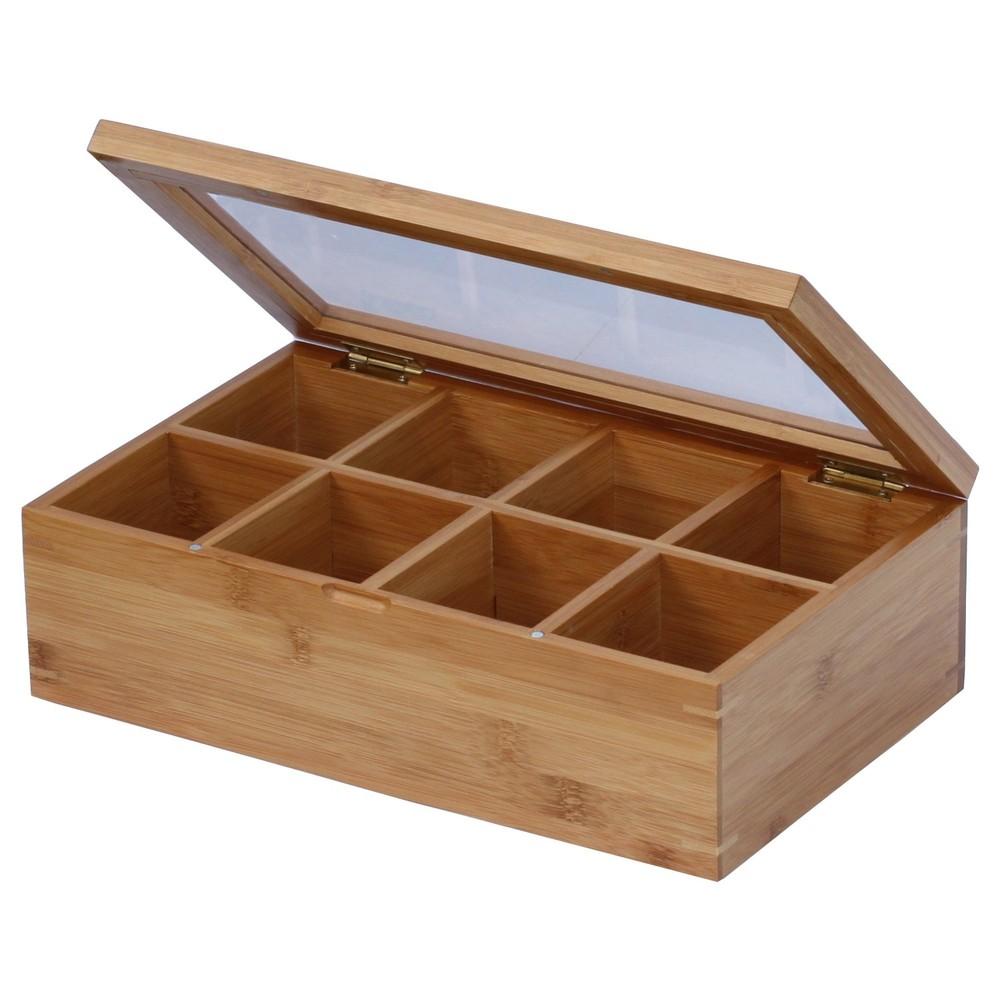 Serviceable pretty MDF wooden japanese tea box organizer