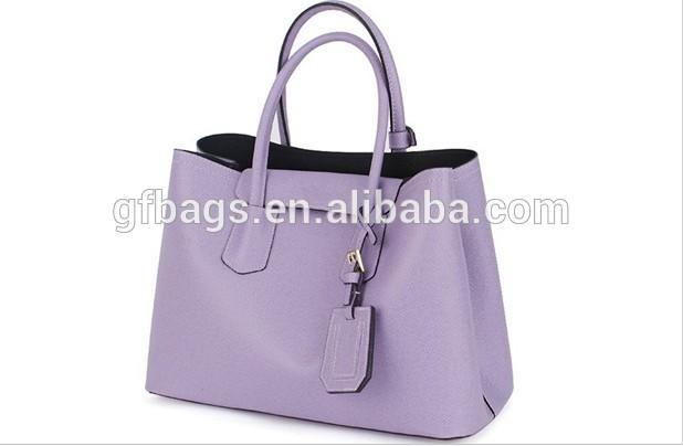 New Design Waterproof Genuine Leather Korean Girls Saffiano Leather Bags Tote Handbag for Women