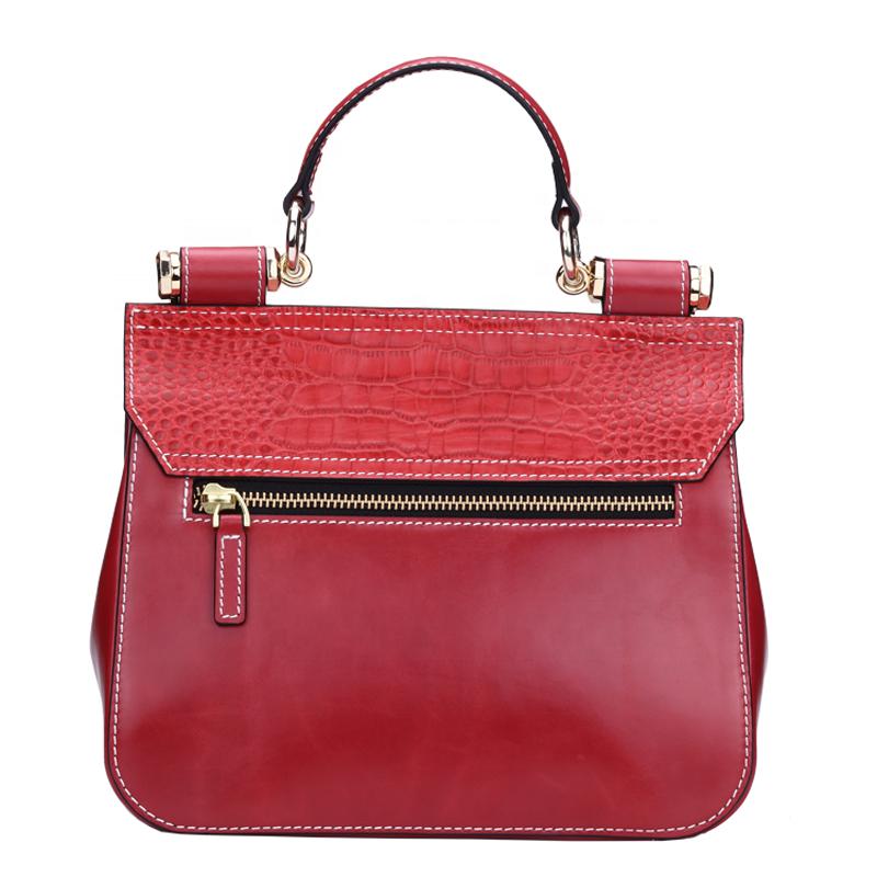 Fashion Genuine Leather Handbags factory Ladies Shoulder Bags Women Crocodile Embossed Tote Bag