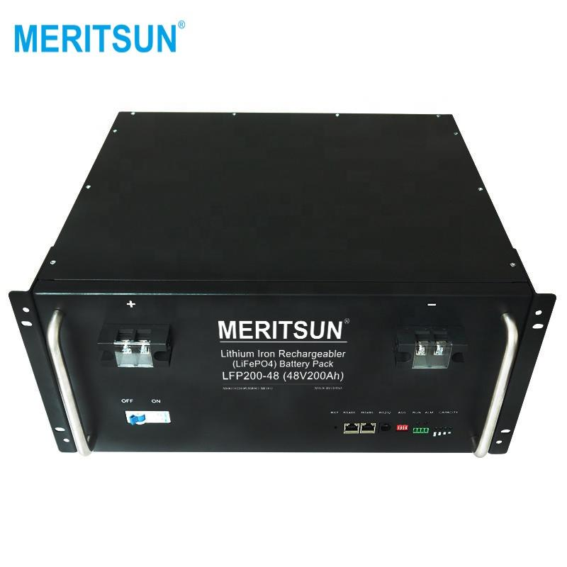 MeritSun Lithium iron phosphate li-ion lifepo4 48v 200ah battery lithium battery pack rechargeable