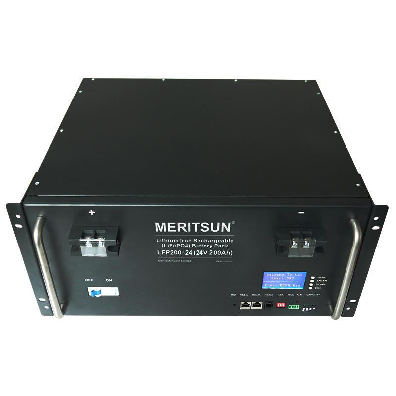 MeritSun 48V 100AH solar home LFP off-grid solar system solar battery inverter solar power system