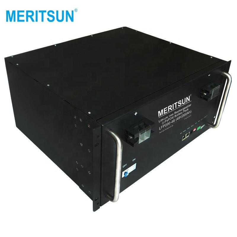 MeritSun Lithium li-ion lifepo4 48v 200ah lithium battery for solar system