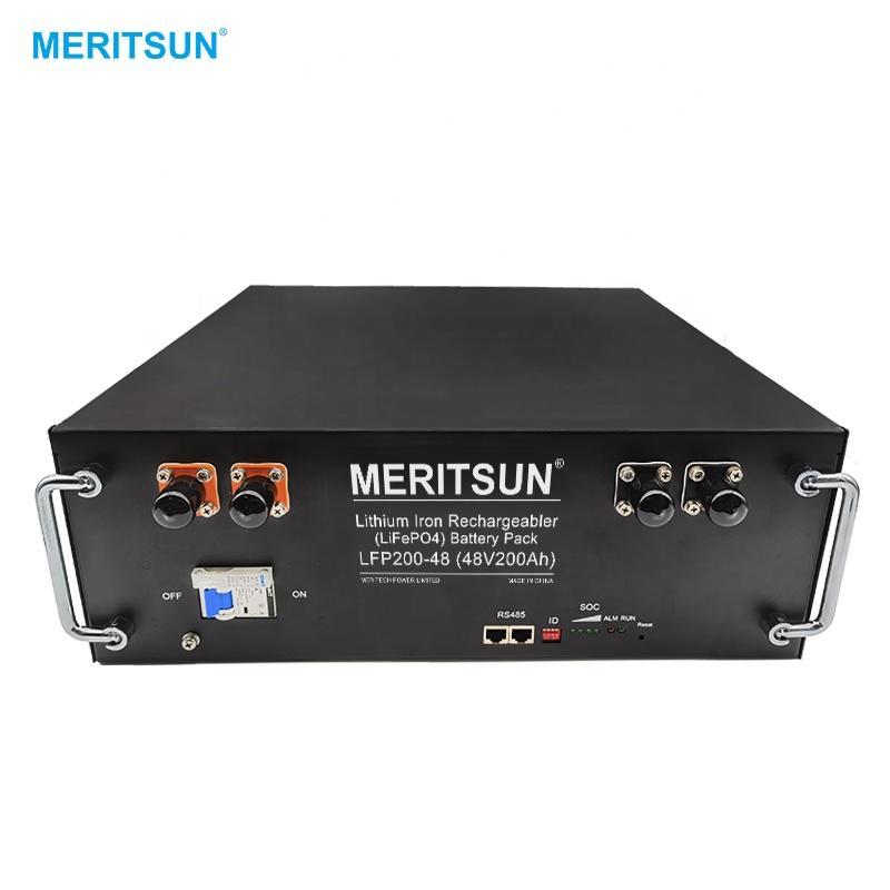MeritSun Solar Battery 5.2Kwh Batterie Ion Lithium 48V Solar Power System Lithium Ion Battery