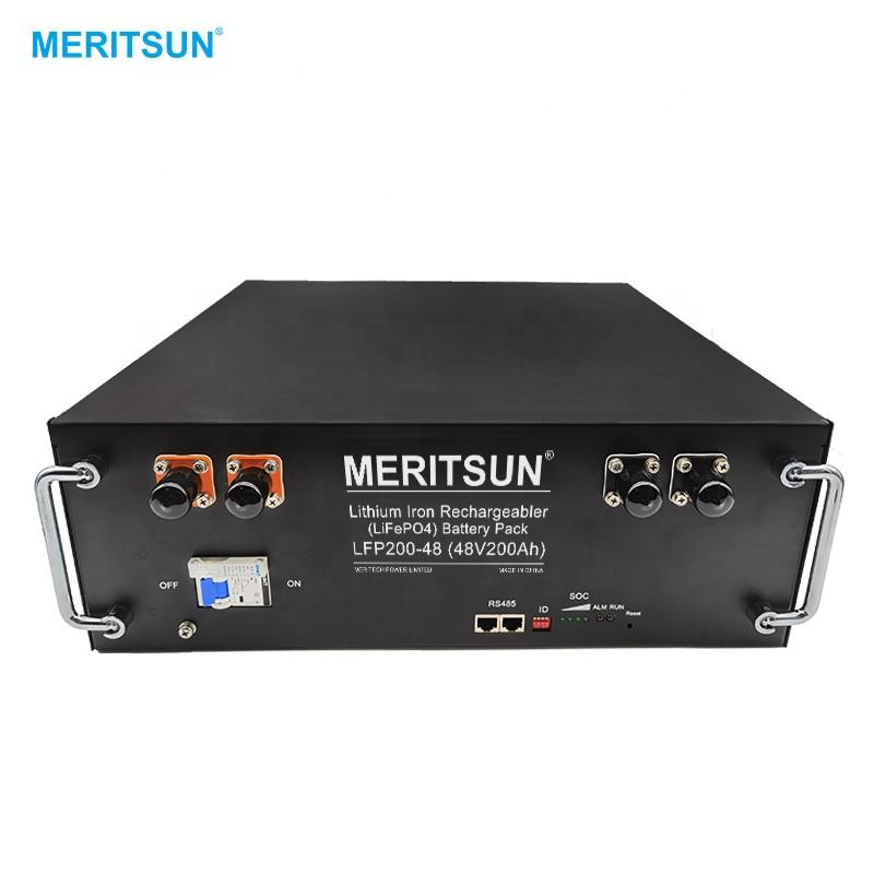 MeritSun 5.2 Kwh Lithium Ion Battery 48V 200Ah Solar Energy Lithium Rechargeable Battery Depth Cycle
