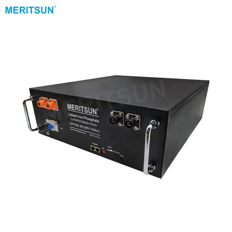 High quality deep cycle lithium solar battery 48v LiFePO4 battery with RS232 RS485