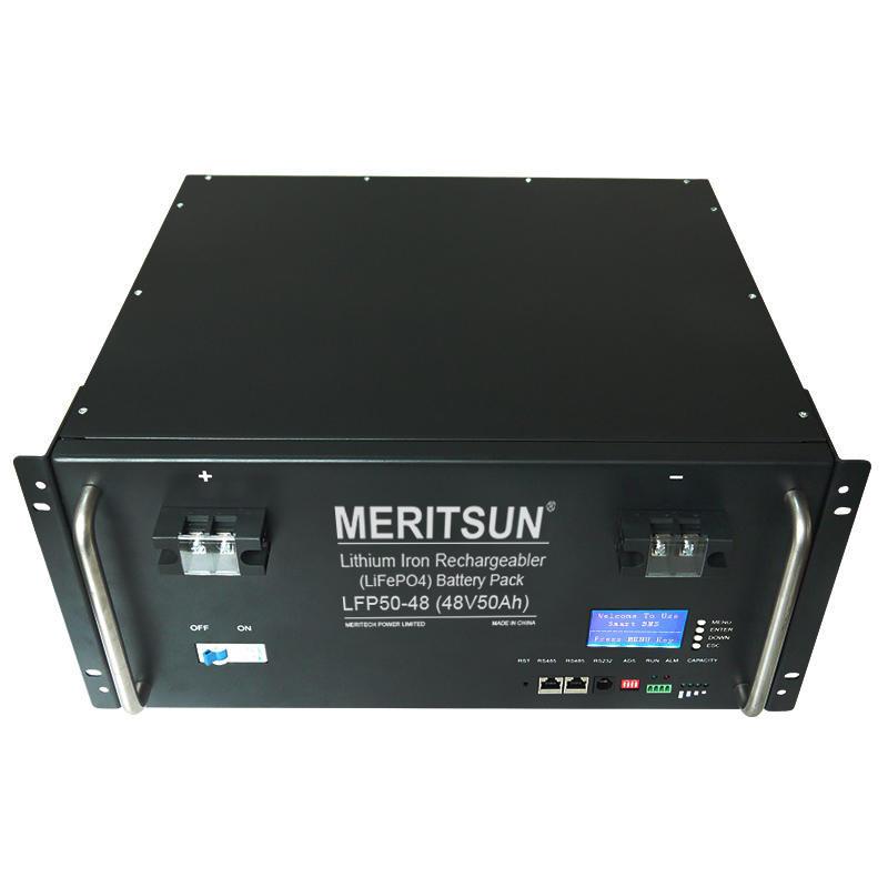 MeritSun 48v 40ah 50ah 100ah 150ah 200ah lithium ion battery for solar system and ups