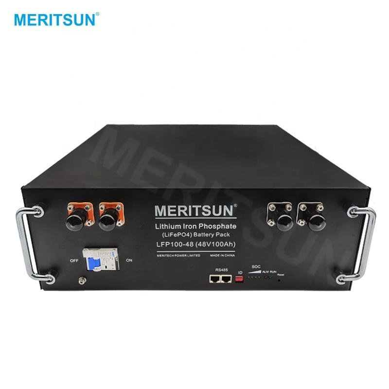 MeritSun Customized 48v 500ah 25kwh LiFePO4 Lithium ion Battery Pack for electric power system