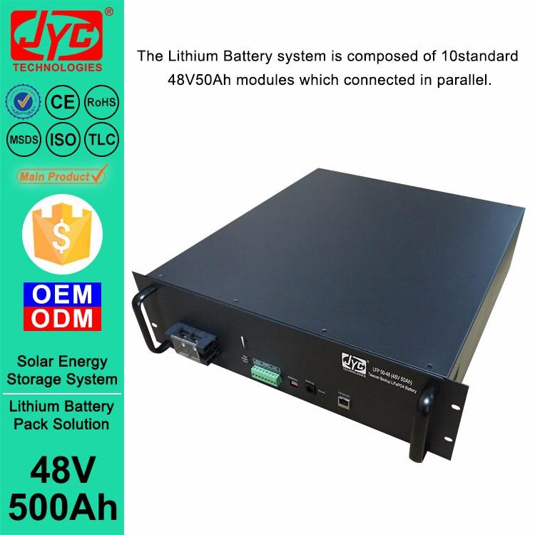 Barbados 48v 500ah LiFePO4 Li ion Lipo Lithium ion Battery Pack Replacing VRLA Battery in Solar Energy System
