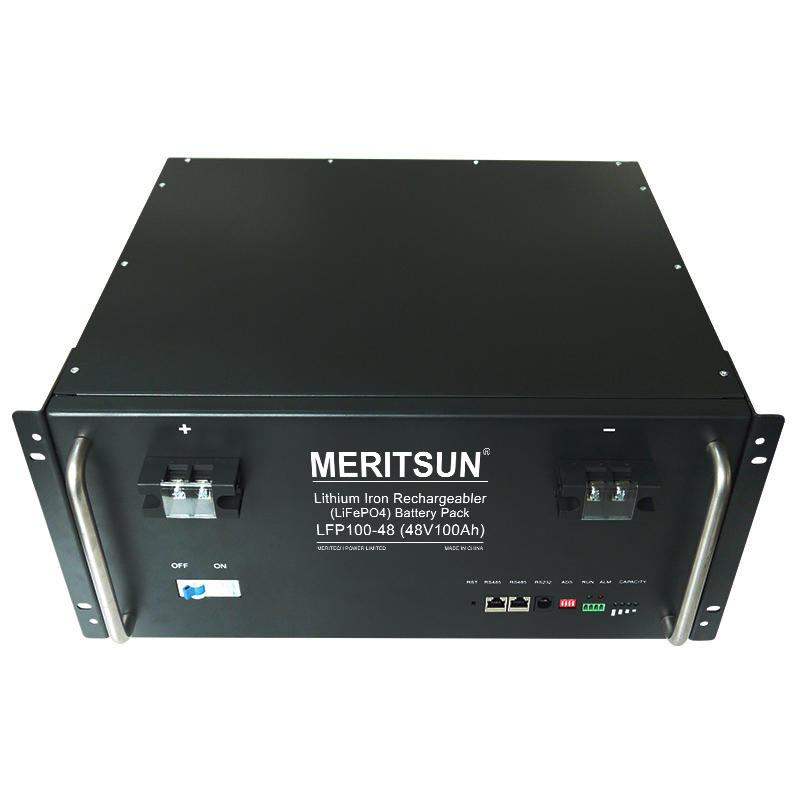 MeritSun Rechargeable 5U storage systems 48v 100ah power module LiFePO4 battery for telecom base station