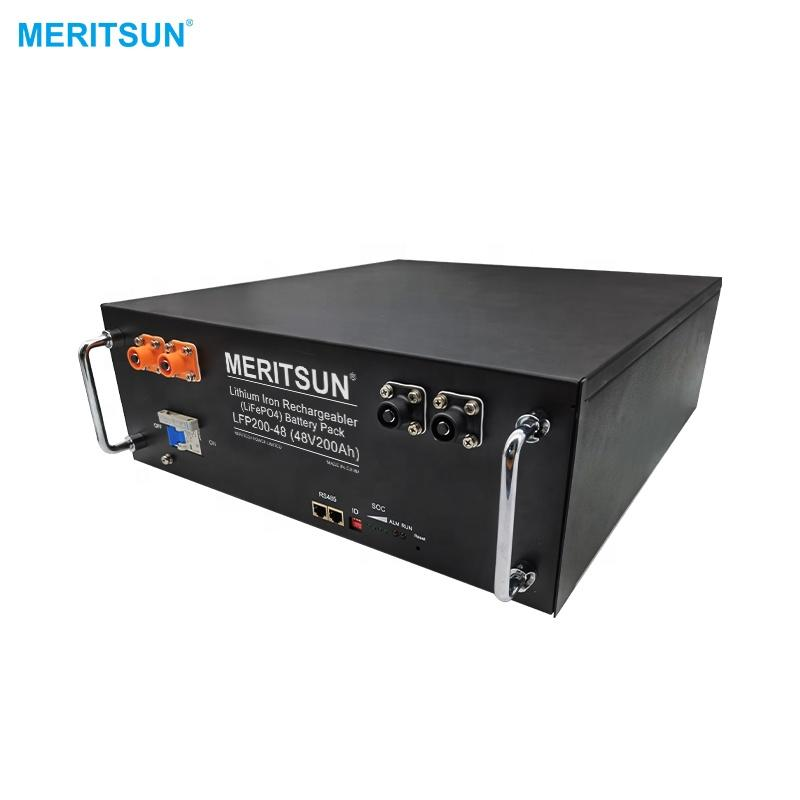 MeritSun LiFePO4 Lithium Battery High Voltage 48V 51.2V 100ah 200ah with BMS Lithium ion Battery System