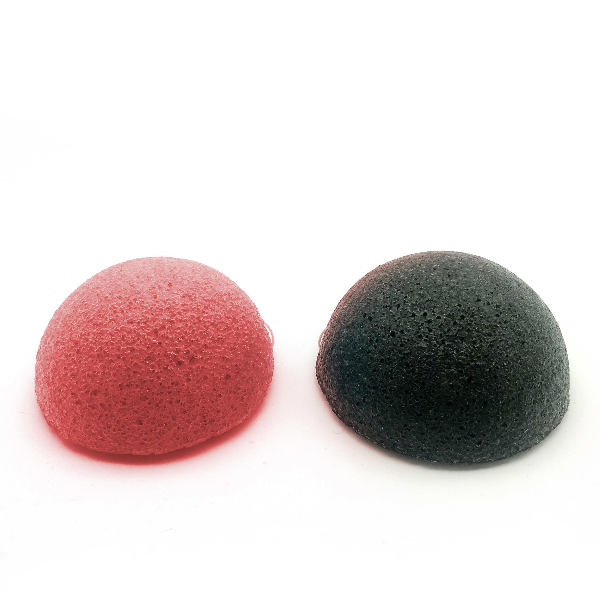 wholesale 100 % Sponge facial puff pink french clay konjac sponge