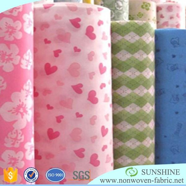 pp spunbond print non woven fabric customized pattern/printed pp nonwoven fabric