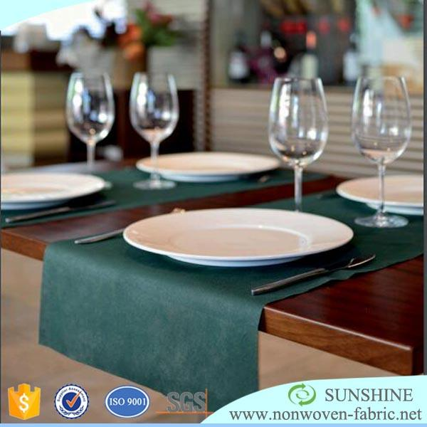 wholesale Hotel and Restaurant nonwoven fabric table runner for wedding