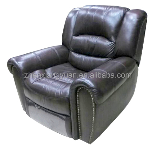 Genuine leather living room rocking recliner chair SF3670