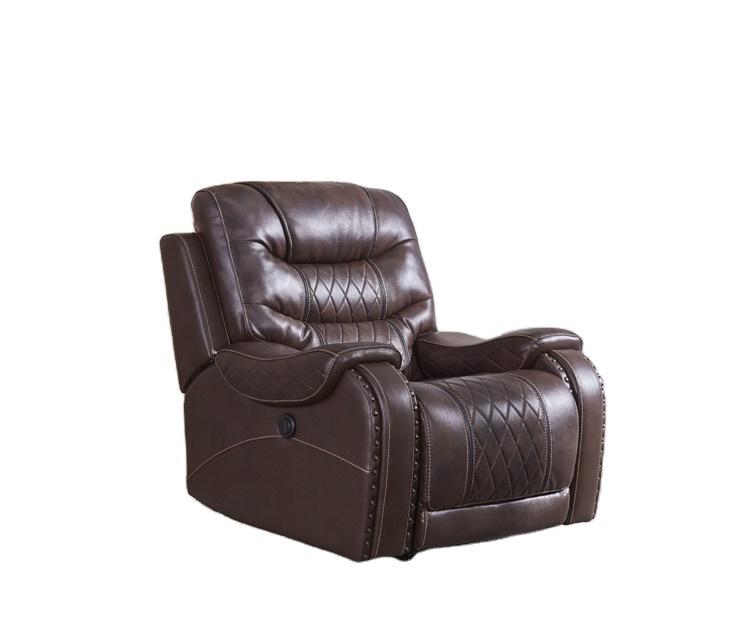 living room furniture sofa premium leather air power recliner chair A135