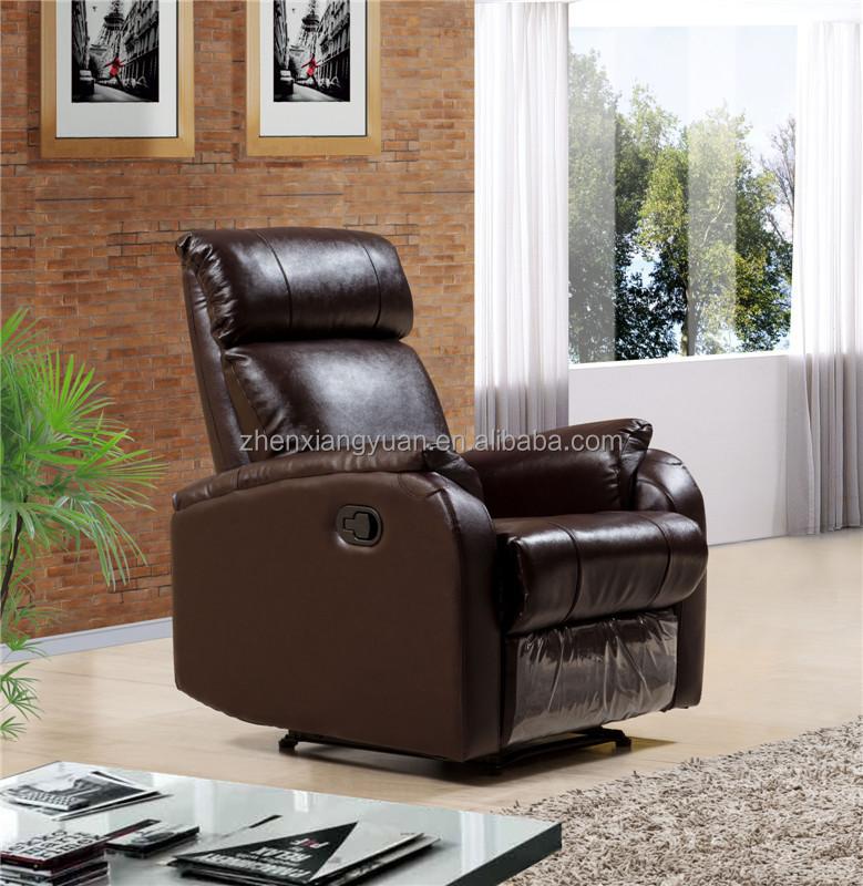 Dark Brown genuine leather reclining chair/ cinema chair /rocking chair SF3766