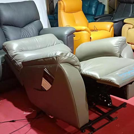 Living room lift chair power recliner top genuien leather chair