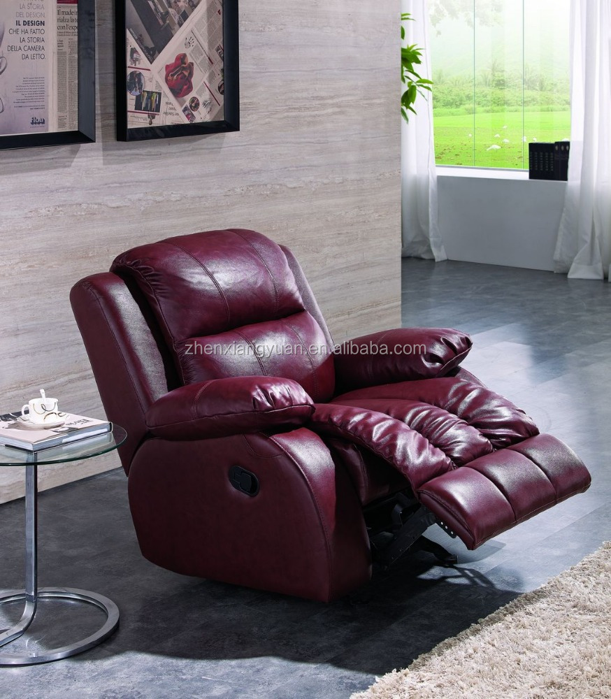 2021 Home furniture newest and modern recliner brown top leather single chair