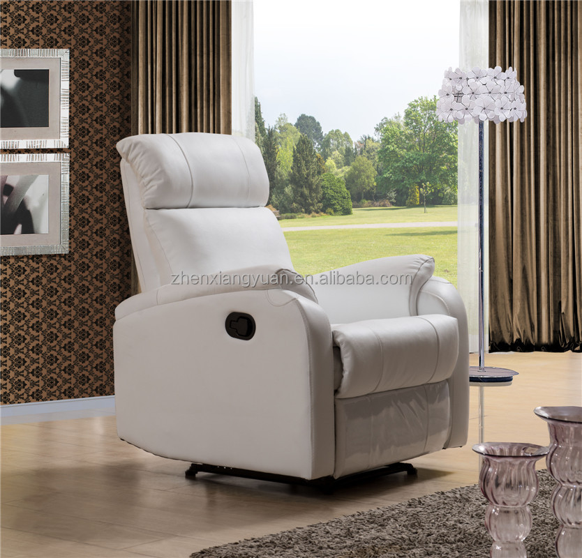 home furniture theater single chair/ recliner chair/ genuine leather in white color SF3766