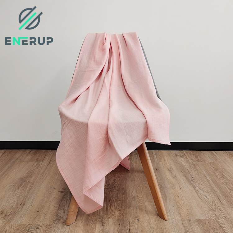 Enerup 2020 New biodegradable 100% PLA super soft as organic cotton knitted newborn baby wrap swaddle blanket