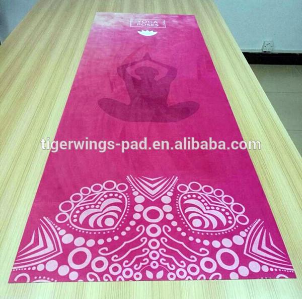 Eco-friendly non-Slip suede fabric sublimation Yoga Mat,100% Natural Rubber Mat Yoga
