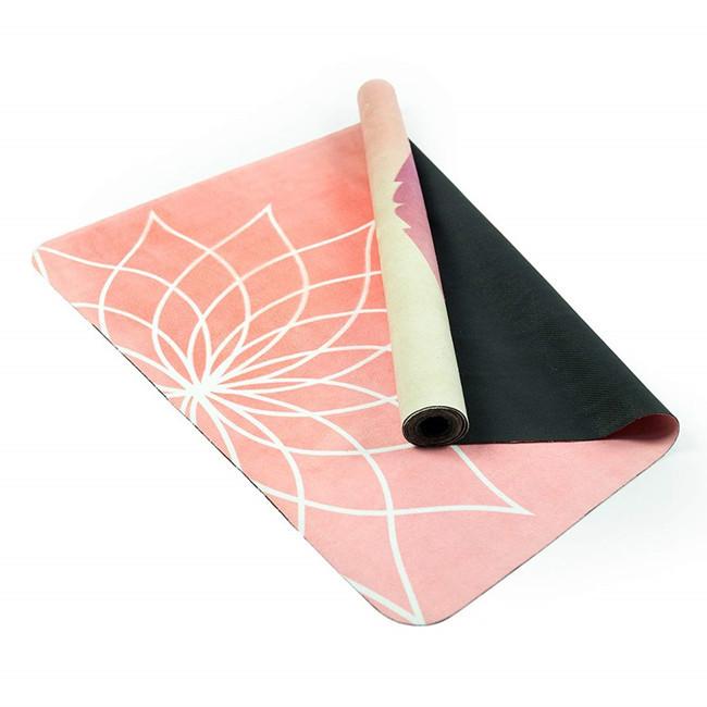 Custom printed suede yoga mat,natural yoga mat,natural rubber yoga mat