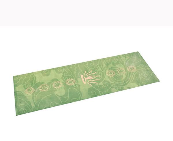 Luxury custom printed super soft suede microfiber non slide hot yoga mat