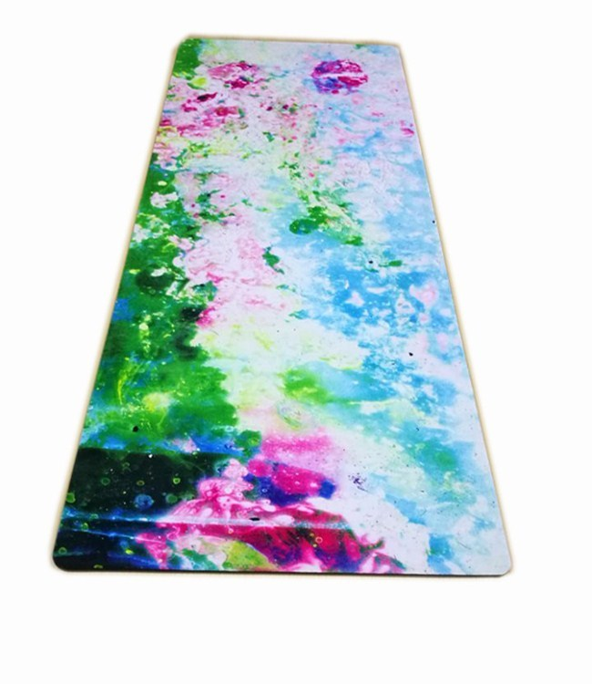 Eco friendly durable Rubber Base+Revolutionary Skin-Friendly Body Alignment Lines yoga mat