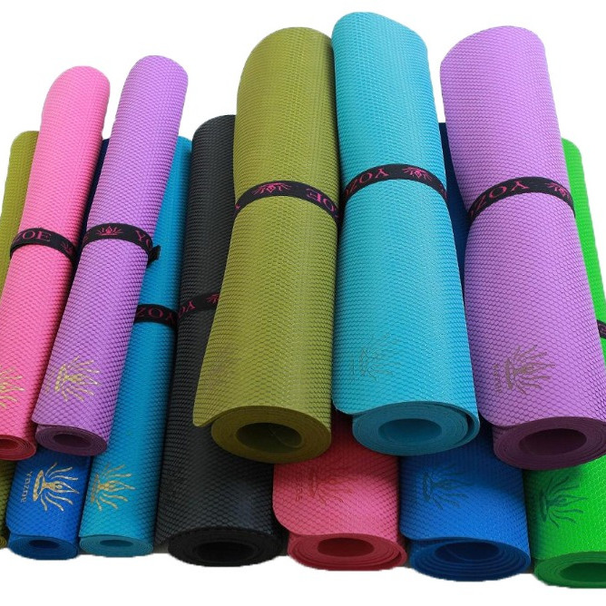 Tigerwings Yoga All Purpose High Density Non-Slip Exercise Yoga Mat with Carrying Strap