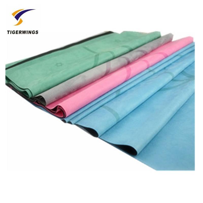 Tigerwings cheap folding custom photo print large yoga mat