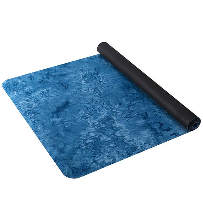 Superior suedenatural rubber yoga mat unique non-slip texture power grip yoga mat