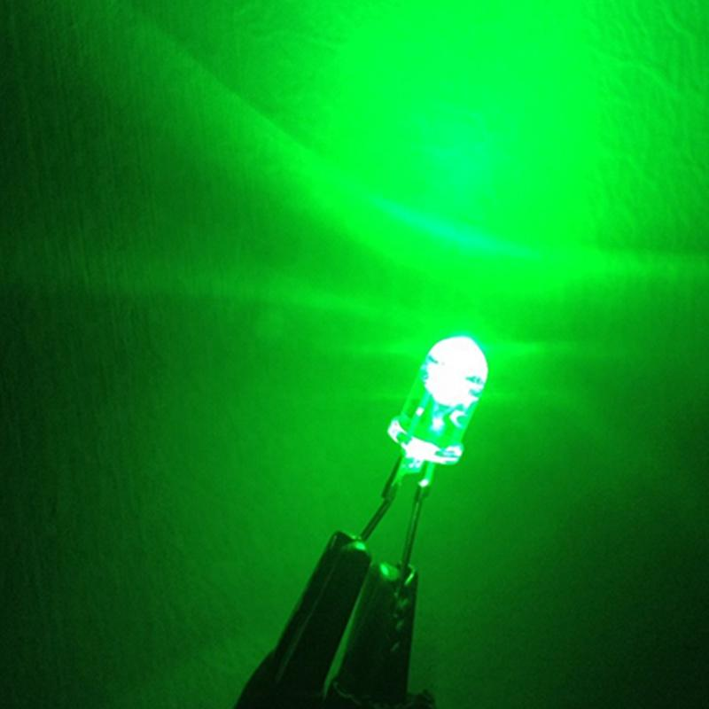 Thoughhole High Power 0.5W 5mm Green LED