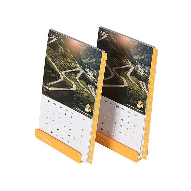 Custom Printing Calendar Mounted On A Plastic Holder The Table Calendar