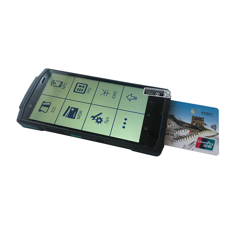 5.7 Inch Android Handheld Ultra-Thin POS Terminal with 58mm Thermal Printer Scanner NFC Camera and Speaker