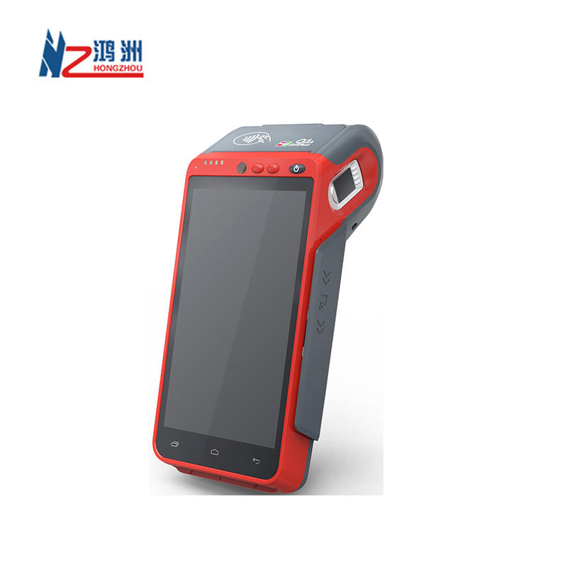 4G Wifi 5.5 Inch Touch Screen Handheld Mobile Android 9.0 Smart STQC Biometric Fingerprint POS Terminal with Printer and NFC