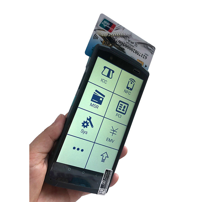 New Design Android 10.0 4G Handheld POS with printer Smart all in one POS machine NFC PDA Barcode Scanner