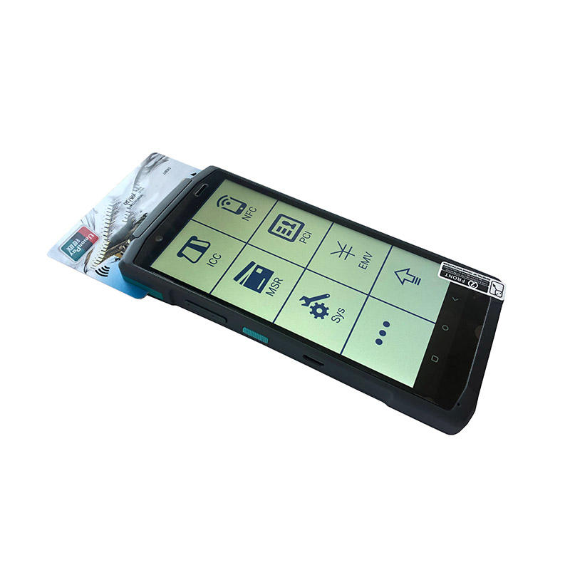 All-in-one Android system handheld mobile PDA pos with label/barcode/QR code thermal printer smart touch