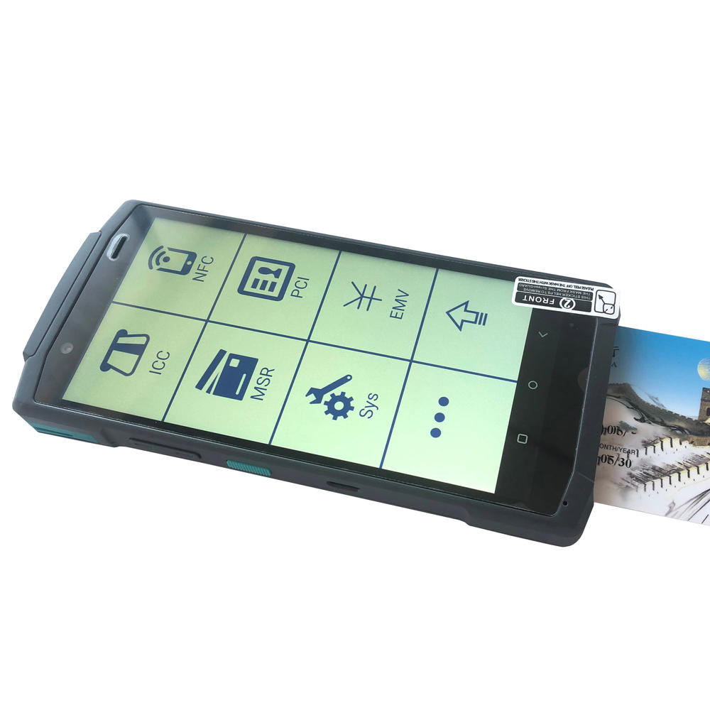 Android Handheld POS Terminal Touch Screen Mobile POS System with NFC Reader
