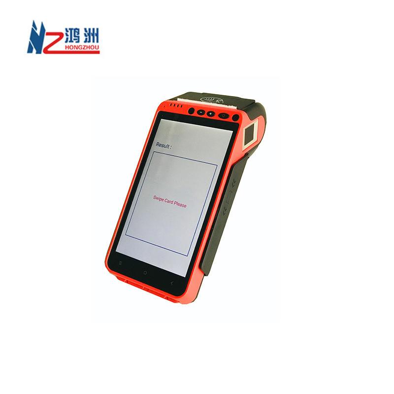 Portable Pos Terminal Android 5.1 NFC Terminal POS with Fingerprint Reader