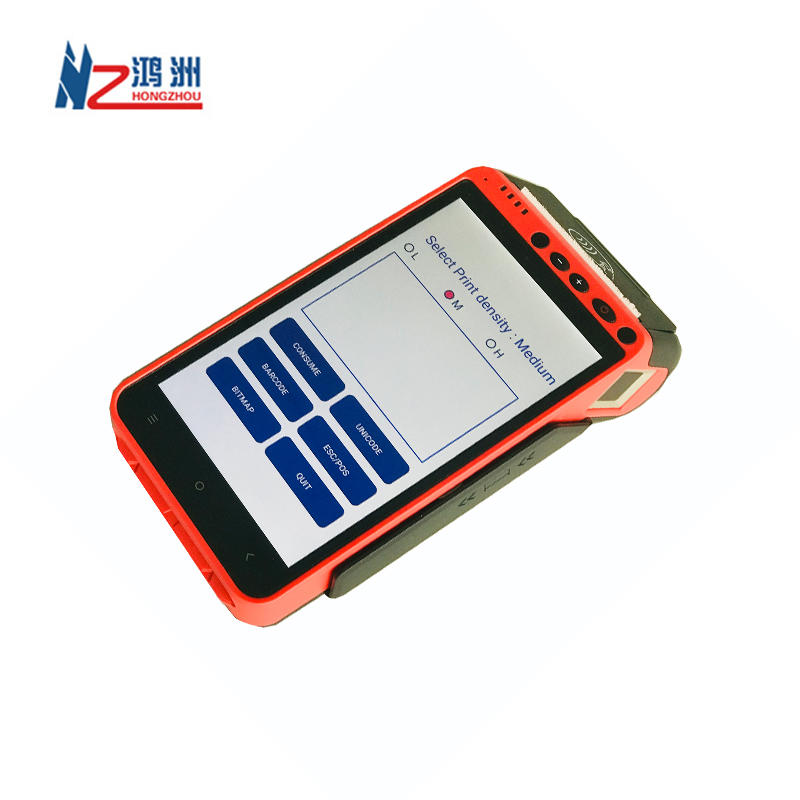 Portable Pos Terminal Android 5.1 NFC Terminal POS with Fingerprint Reader