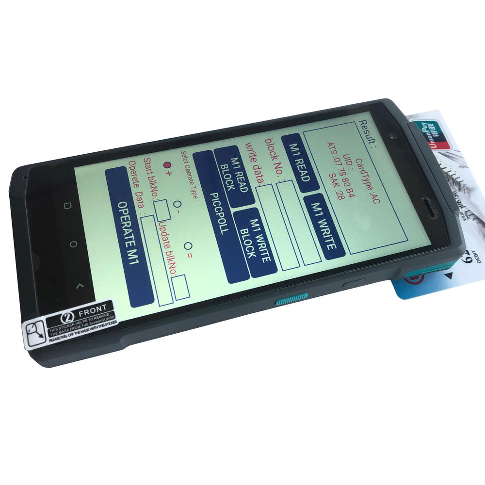 5.7 inch handheld pos machine android 10.0 touch screen mobile pos terminal