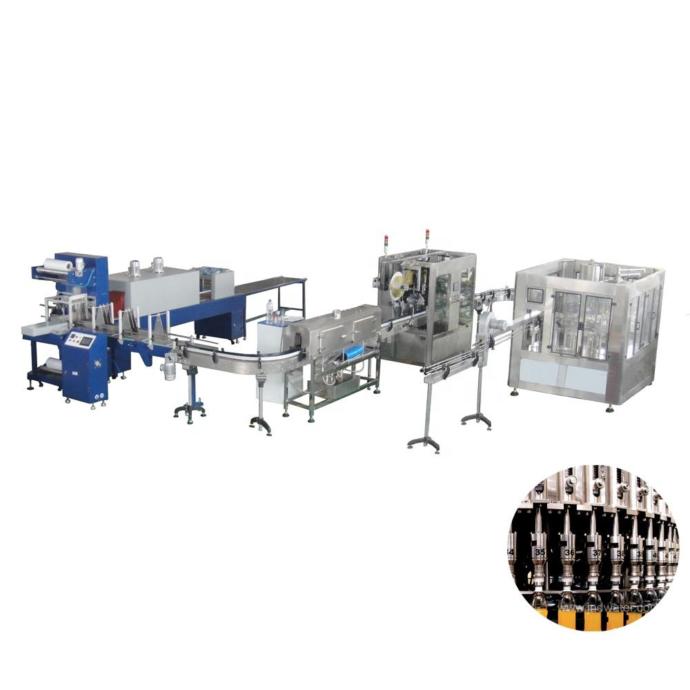 automatic bottled beverage carbonated drink making line production plant