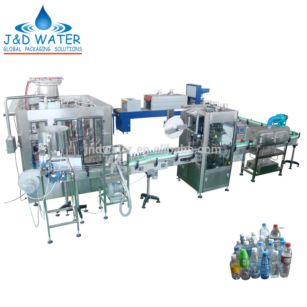 Complete Bottle Pure Water Production Line for 250m-2000ml Plastic Bottle or Glass Bottle