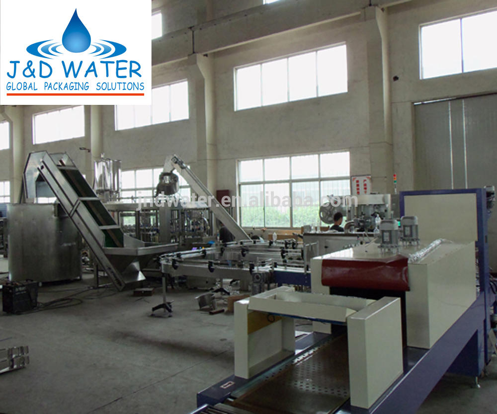 Small Plastic Glass Bottle Water Filling Packing Line