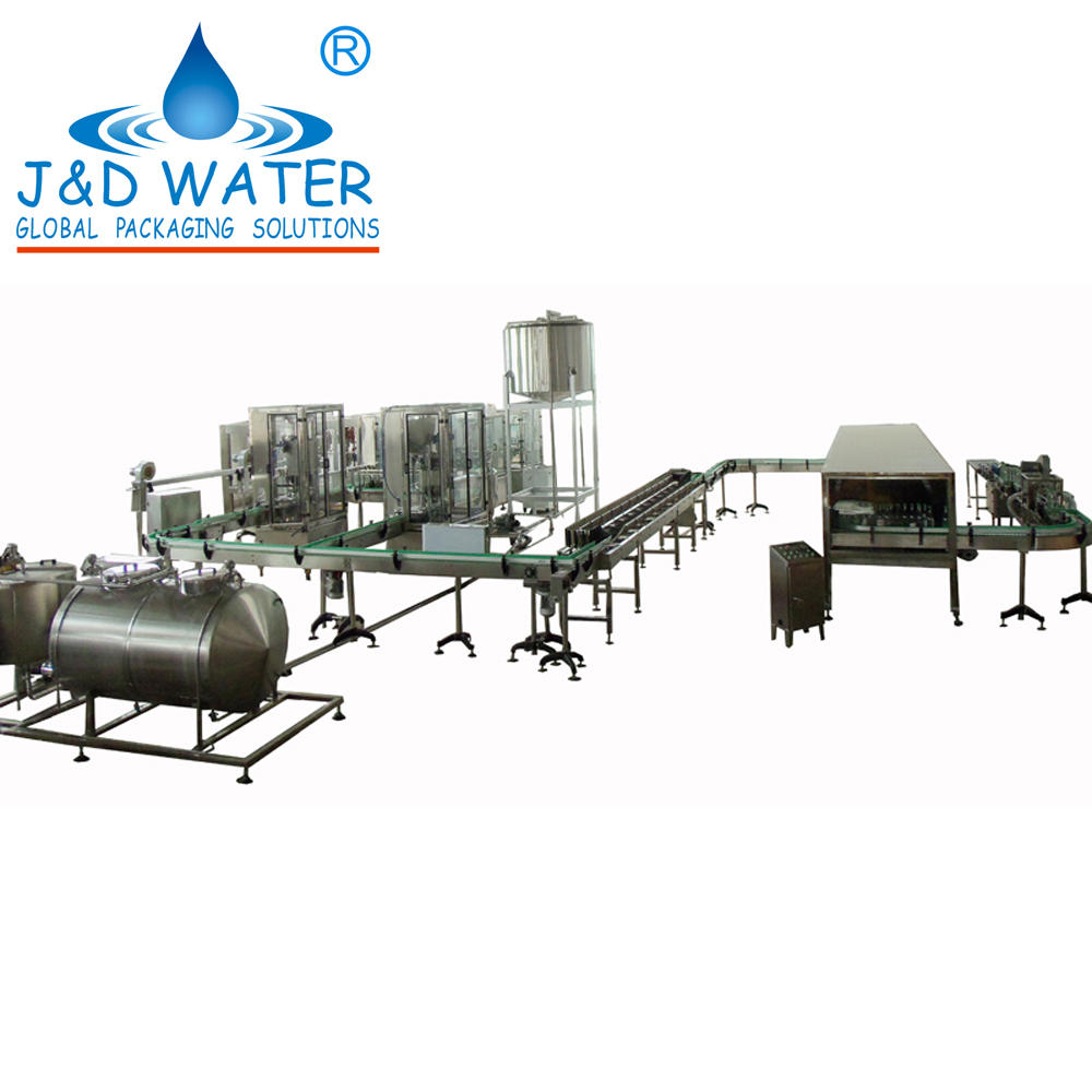 Complete automatic glass bottle wine bottling line also use for plastic bottle